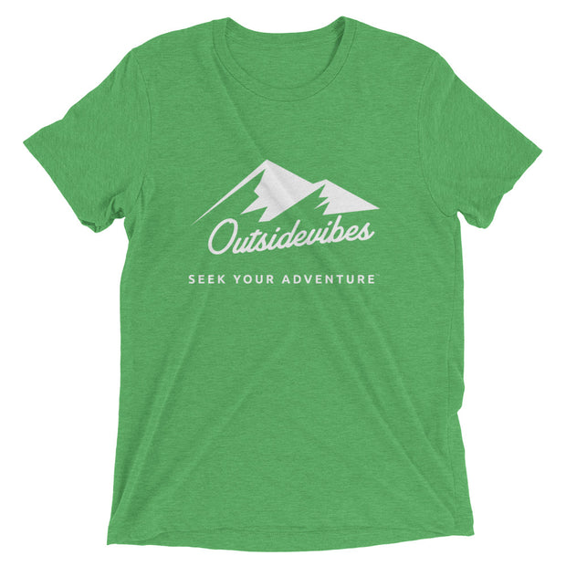 Outsidevibes ADVRT Men's green Tri-Blend T-Shirt color Travel and outdoor clothing