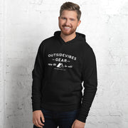 Outsidevibes Gear Black Men's Fleece Hoodie