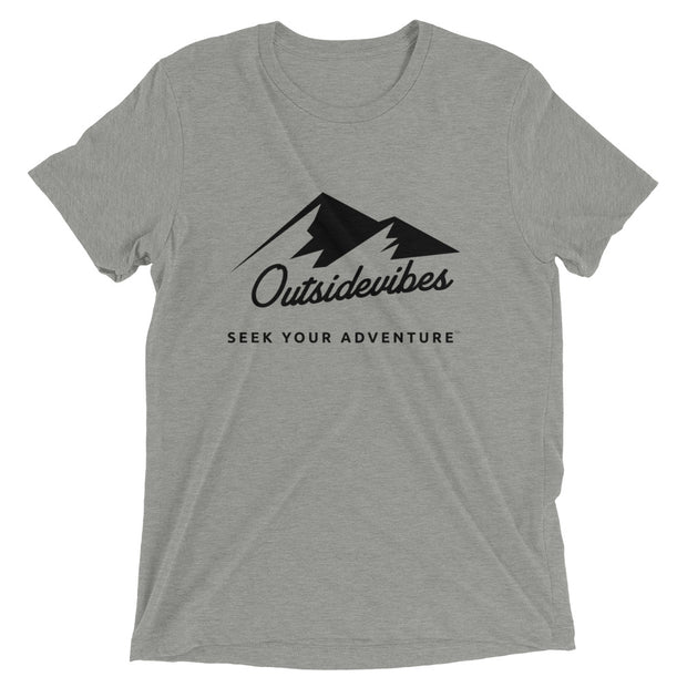 Outsidevibes ADVRT Men's athletic grey Tri-Blend T-Shirt color Travel and outdoor clothing