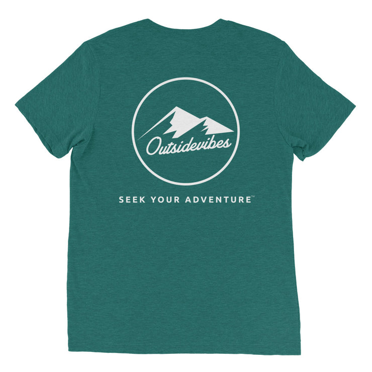 Ousidevibes The ADVNTR Triangle Men's teal tri-blend T-Shirt Outdoor and Travel clothing