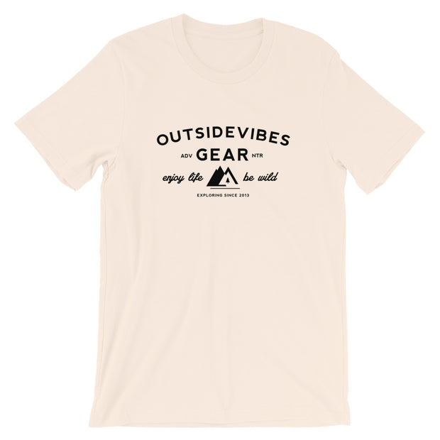 Outsidevibes Gear Men's Soft Cream Cotton T-Shirt Outdoor and Travel Apparel