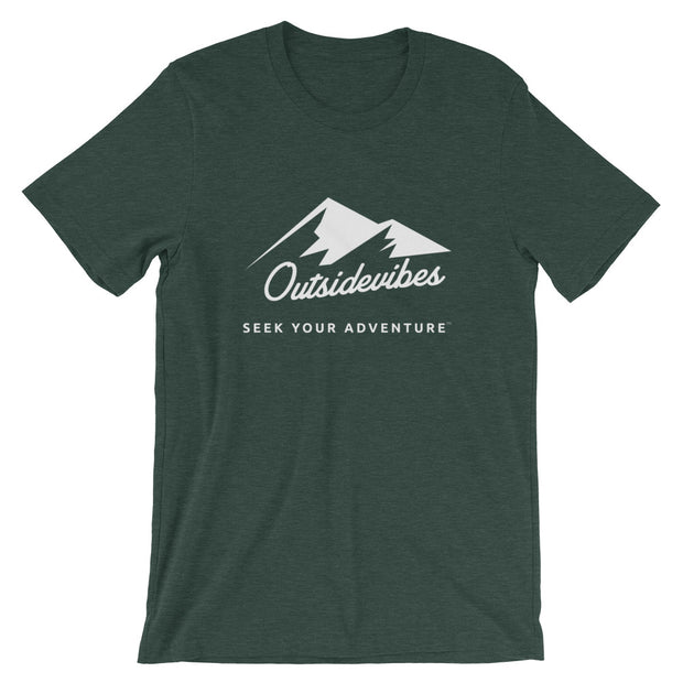 Outsidevibes ADVRT Men's Heather forest green T-Shirt Outdoor and Travel clothing