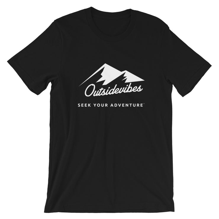 Outsidevibes ADVRT Men's Cotton T-Shirt black color Travel and outdoor clothing