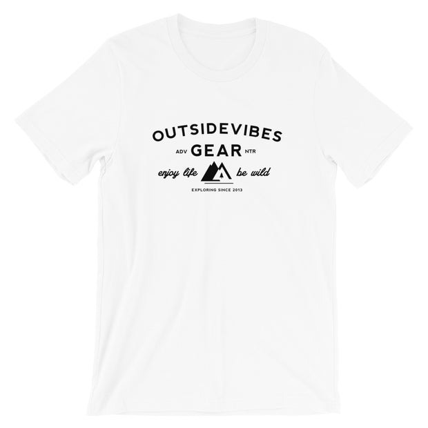 Outsidevibes Gear Men's White Cotton T-Shirt Outdoor and Travel Apparel