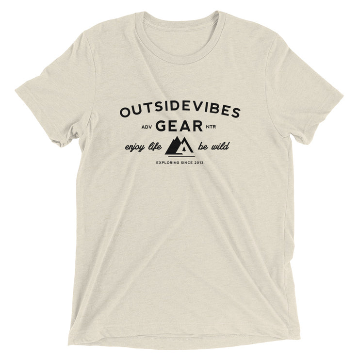 Ousidevibes Gear Men's oatmeal tri-blend T-Shirt Outdoor and Travel Apparel