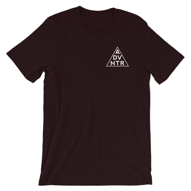 Ousidevibes The ADVNTR Triangle Men's oxblood black Cotton T-Shirt Outdoor and travel apparel