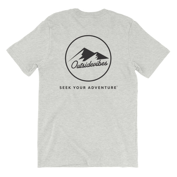 Ousidevibes The ADVNTR Triangle Men's heather athletic grey T-Shirt Outdoor and travel clothing