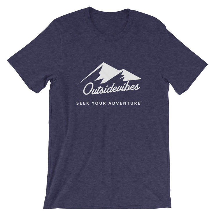 Outsidevibes ADVRT Men's Heather Midnight Navy T-Shirt Outdoor and Travel clothing