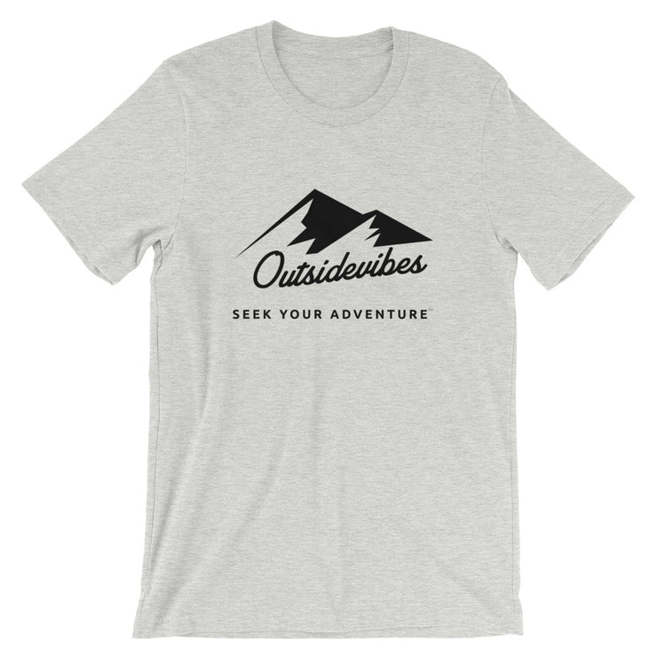 Outsidevibes ADVRT Men's Heather athletic grey T-Shirt Outdoor and Travel clothing