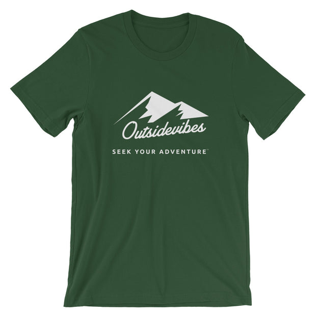 Outsidevibes ADVRT Men's Cotton T-Shirt forest color Travel and outdoor clothing