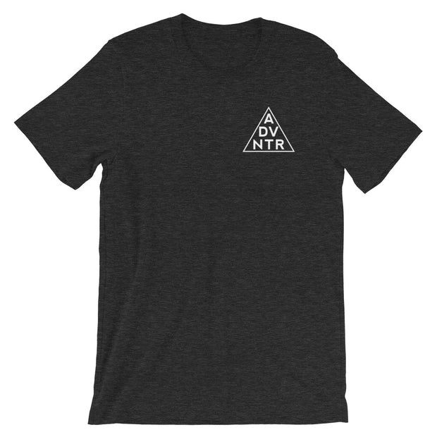 Ousidevibes The ADVNTR Triangle Men's heather dark navy T-Shirt Outdoor and travel clothing