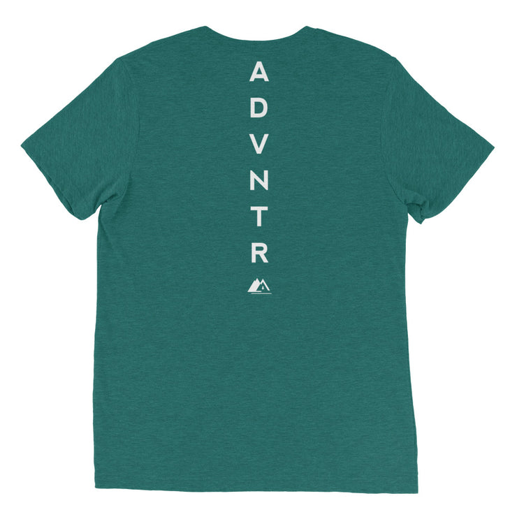 Outsidevibes ADVRT Men's teal Tri-Blend T-Shirt color Travel and outdoor clothing