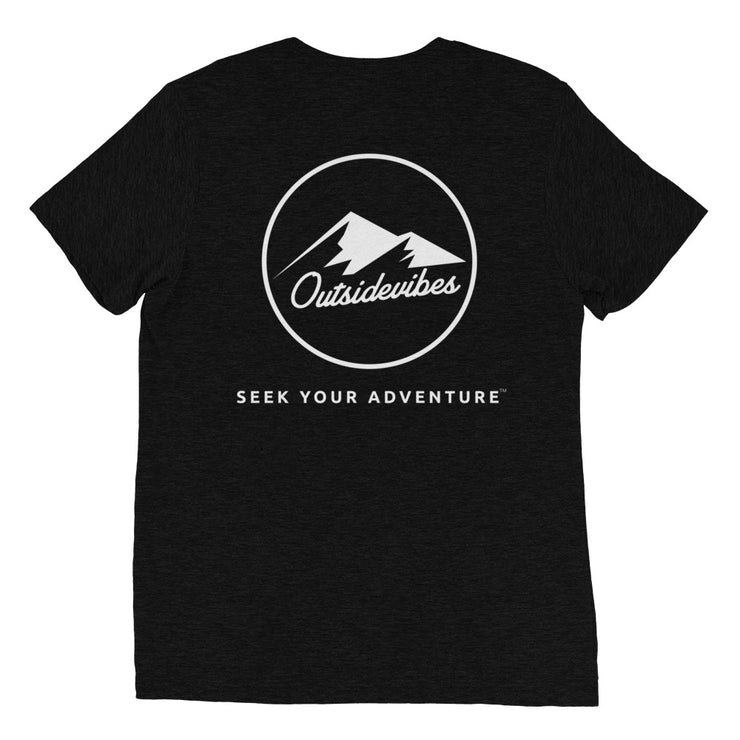 Ousidevibes The ADVNTR Triangle Men's black tri-blend T-Shirt Outdoor and Travel clothing