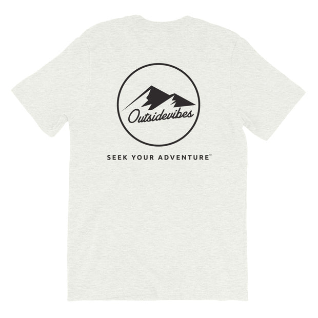 Ousidevibes The ADVNTR Triangle Men's Ash Cotton T-Shirt Outdoor and travel apparel