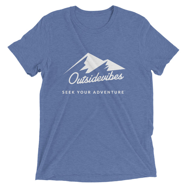 Outsidevibes ADVRT Men's blue Tri-Blend T-Shirt color Travel and outdoor clothing