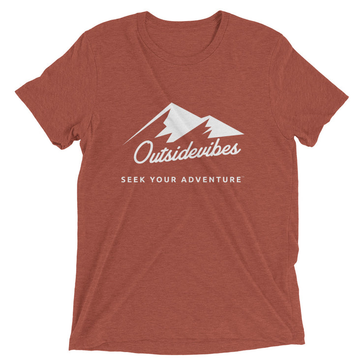 Outsidevibes ADVRT Men's clay Tri-Blend T-Shirt color Travel and outdoor clothing