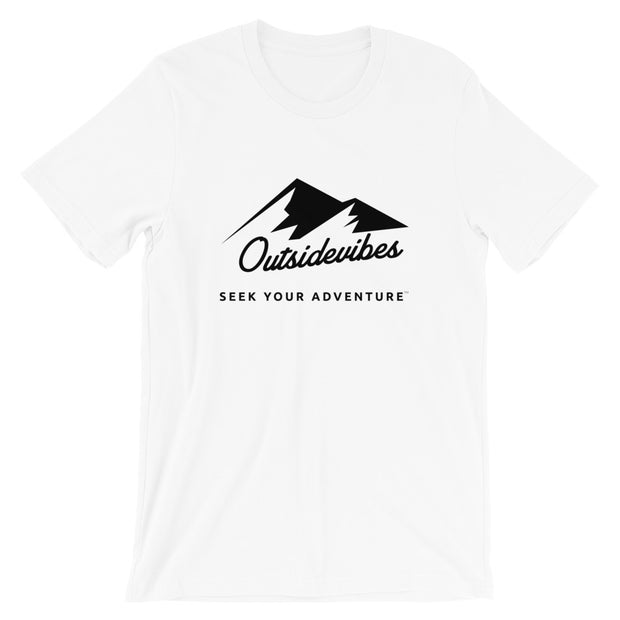 Outsidevibes ADVRT Men's Cotton T-Shirt White color Travel and outdoor clothing