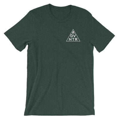 Ousidevibes The ADVNTR Triangle Men's heather forest green T-Shirt Outdoor and travel clothing