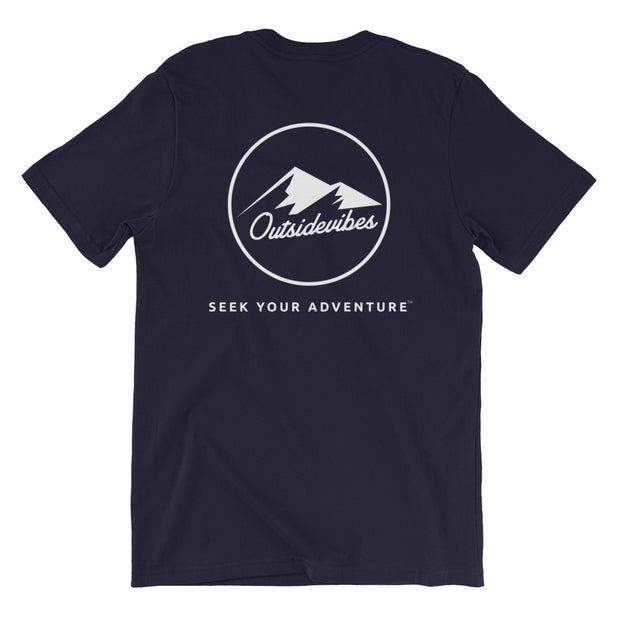 Ousidevibes The ADVNTR Triangle Men's Navy Cotton T-Shirt Outdoor and travel apparel