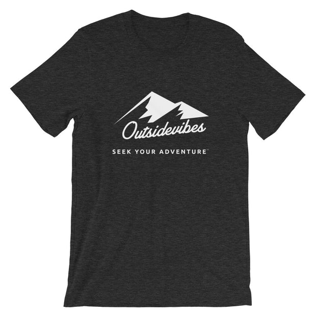 Outsidevibes ADVRT Men's Heather dark grey T-Shirt Outdoor and Travel clothing