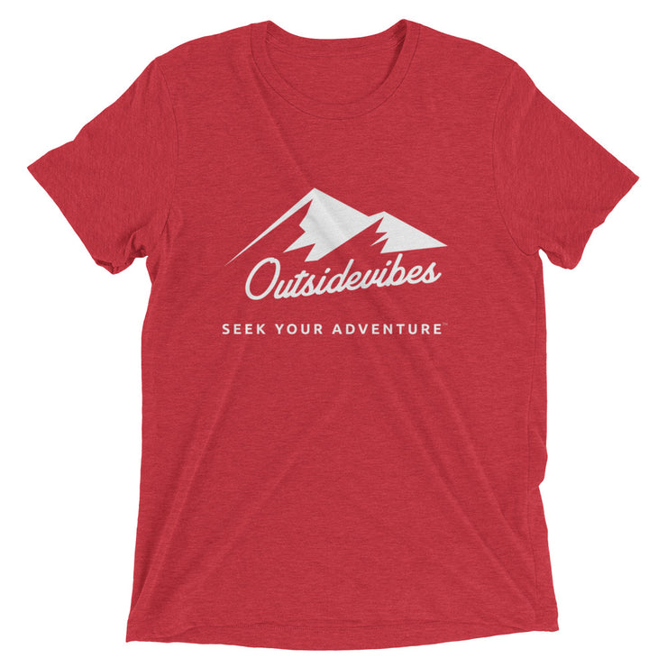 Outsidevibes ADVRT Men's red Tri-Blend T-Shirt color Travel and outdoor clothing