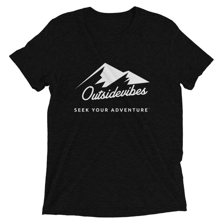 Outsidevibes ADVRT Men's black Tri-Blend T-Shirt color Travel and outdoor clothing