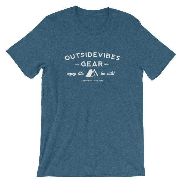 Outsidevibes Gear Men's Heather deep teal T-Shirt Outdoor and Travel clothing