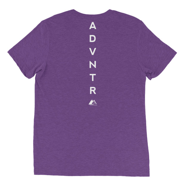 Outsidevibes ADVRT Men's purpleTri-Blend T-Shirt color Travel and outdoor clothing