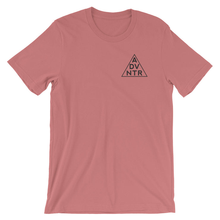Ousidevibes The ADVNTR Triangle Men's Mauve Cotton T-Shirt Outdoor and travel apparel