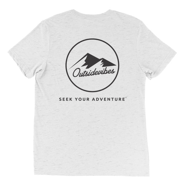 Ousidevibes The ADVNTR Triangle Men's white fleck tri-blend T-Shirt Outdoor and Travel clothing