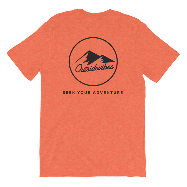 Ousidevibes The ADVNTR Triangle Men's heather prism orange T-Shirt Outdoor and travel clothing