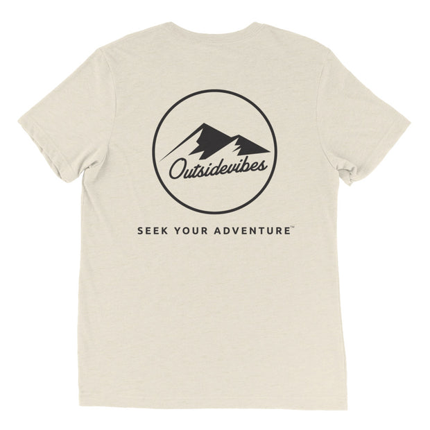 Ousidevibes The ADVNTR Triangle Men's oatmeal tri-blend T-Shirt Outdoor and Travel clothing