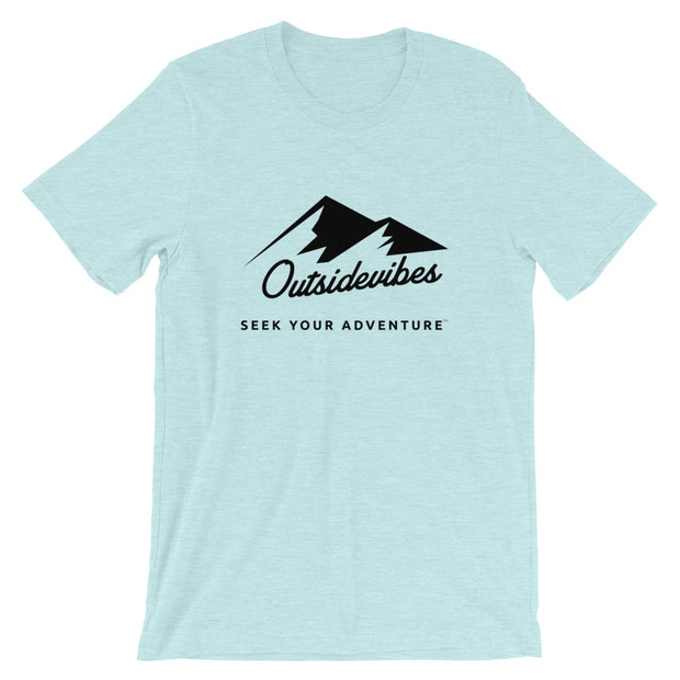 Outsidevibes ADVRT Men's Heather prism blue T-Shirt Outdoor and Travel clothing