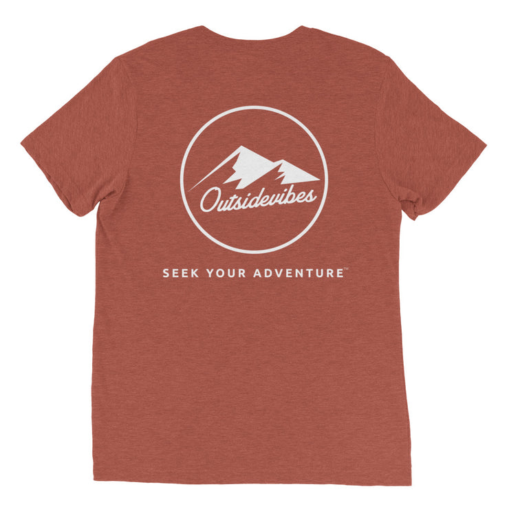 Ousidevibes The ADVNTR Triangle Men's clay tri-blend T-Shirt Outdoor and Travel clothing