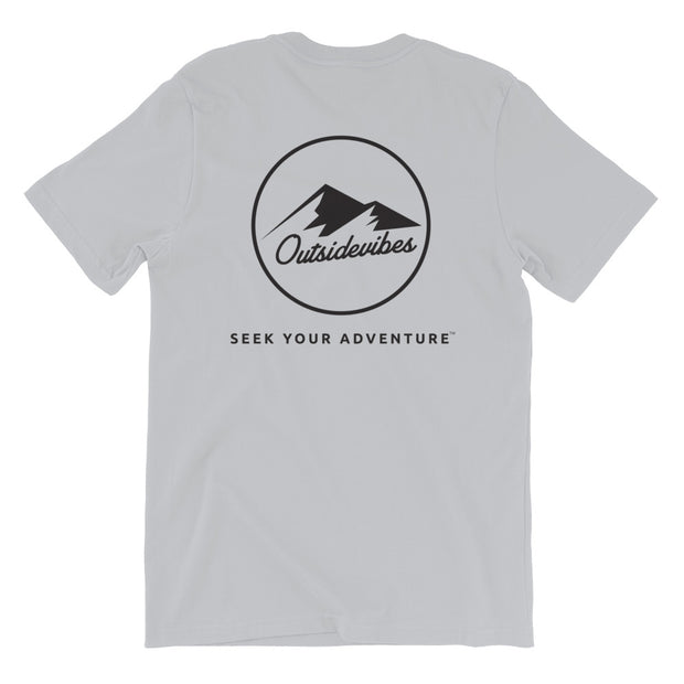 Ousidevibes The ADVNTR Triangle Men's Silver Cotton T-Shirt Outdoor and travel apparel