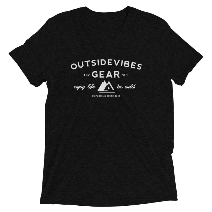 Ousidevibes Gear Men's black tri-blend T-Shirt Outdoor and Travel Apparel