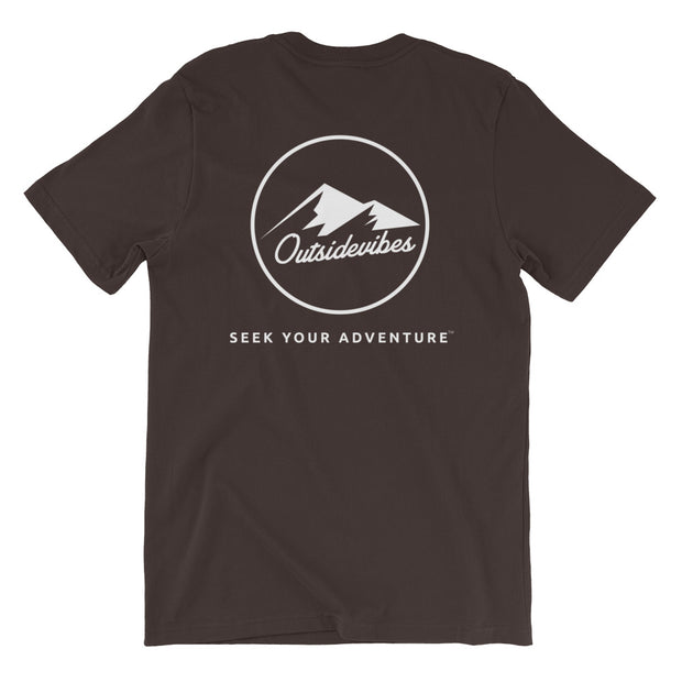 Ousidevibes The ADVNTR Triangle Men's Brown Cotton T-Shirt Outdoor and travel apparel