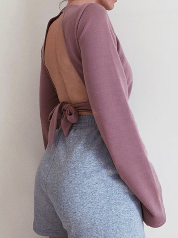 East Backless Sweatshirt