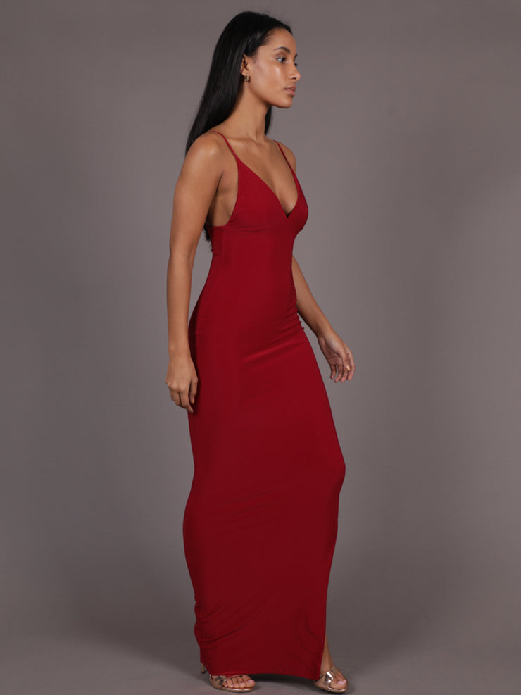 Heartbreaker Maxi Dress With Split, Maxi Dress, AYM - Boom Boom the Label
