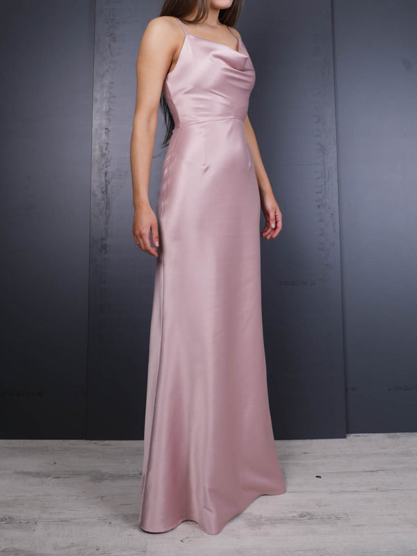 Grace Satin Maxi Dress title=