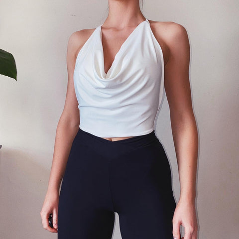 Hatton Drape Halter-neck Top