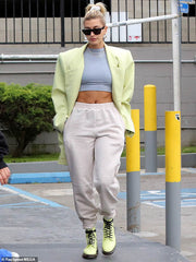 Chalk Joggers, Women's Joggers, Hailey Bieber wears AYM Studio