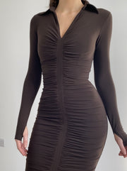 Muse Ruched Mini Dress