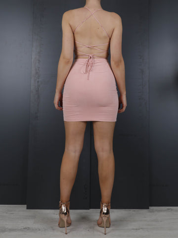 Mia Mini Skirt in Suede, Skirt, AYM - Boom Boom the Label