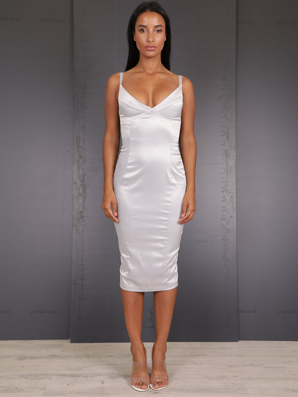 Richmond Satin Midi Dress, Midi Dress, AYM - Boom Boom the Label