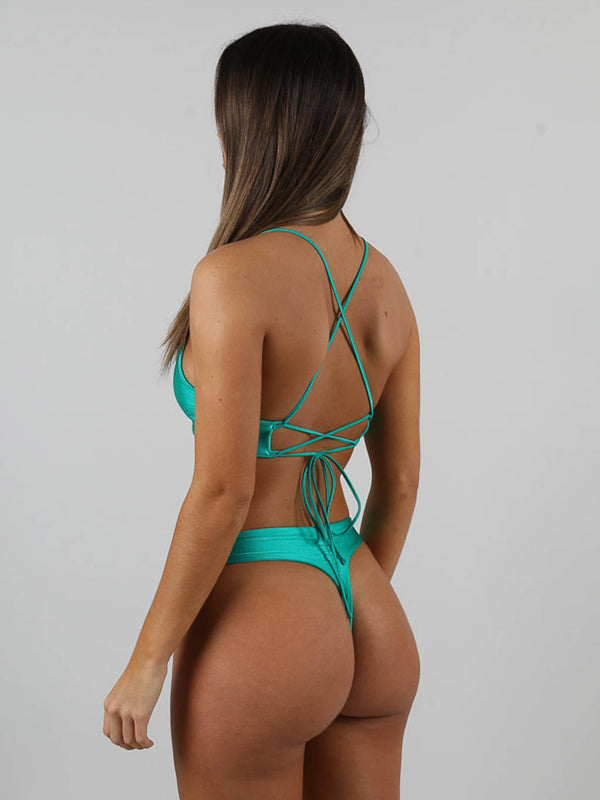 Ruched Thong Bikini Brief, Swim, AYM - Boom Boom the Label title=