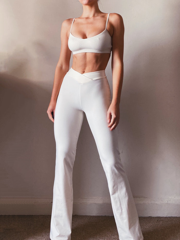 Bamboo Trousers with V-Front