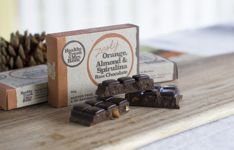 Raw Chocolate - Orange, Almond and Spirulina