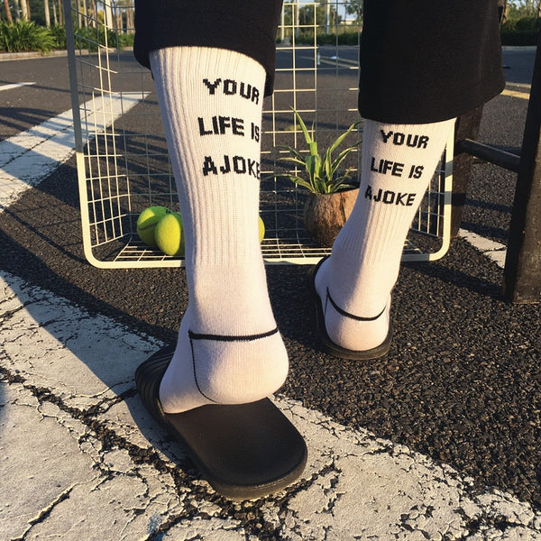Fashion Letter Socks (2 colors)