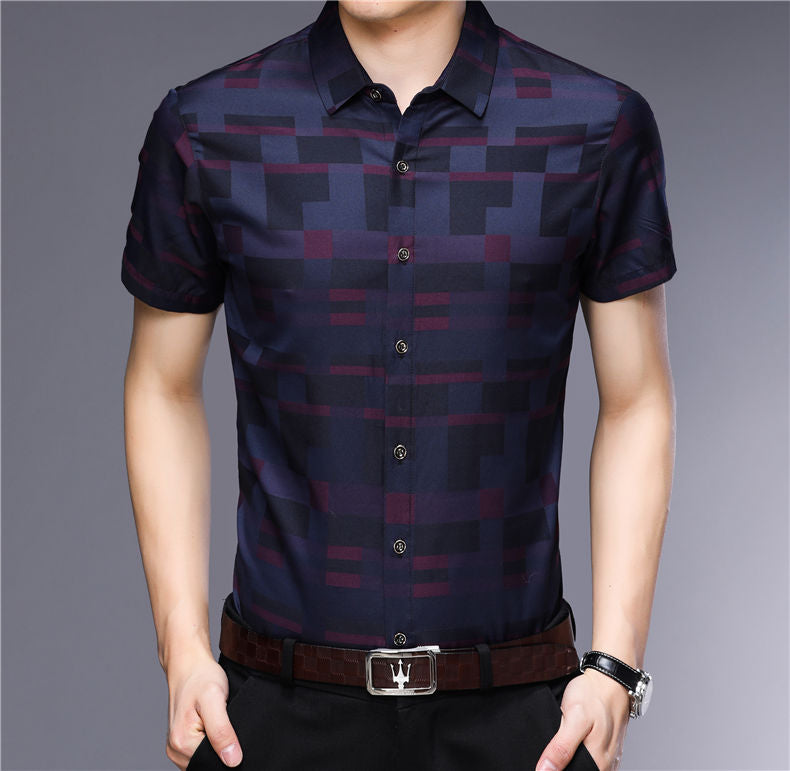 Casual Short Sleeve Shirt (2 colors)